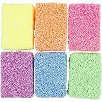 Soft Foam, neon kleuren, 6x10 gr/ 1 doos