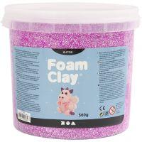 Foam Clay®, glitter, paars, 560 gr/ 1 emmer