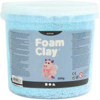 Foam Clay®, glitter, lichtblauw, 560 gr/ 1 emmer
