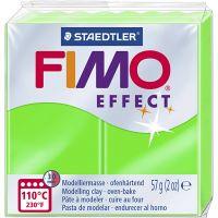 FIMO® Effect, neon groen, 57 gr/ 1 doos