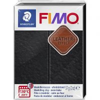 FIMO® Leather Effect , black (909), 57 gr/ 1 doos