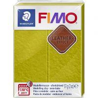 FIMO® Leather Effect , olive (519), 57 gr/ 1 doos