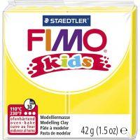 FIMO® Kids boetseerklei, geel, 42 gr/ 1 doos