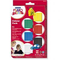 FIMO® Kids boetseerklei, standaardkleuren, 6x42 gr/ 1 doos