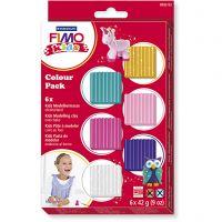 FIMO® Kids boetseerklei, extra kleuren, 6x42 gr/ 1 doos