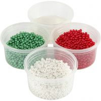 Pearl Clay®, groen, rood, wit, 1 set, 3x25+38 gr