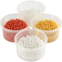Pearl Clay®, oranje, wit, geel, 1 set
