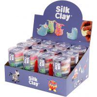 Silk Clay®, neon kleuren, standaardkleuren, 12 set/ 1 doos