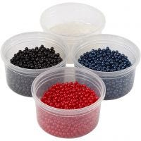 Pearl Clay®, zwart, blauw, rood, 1 set, 3x25+38 gr