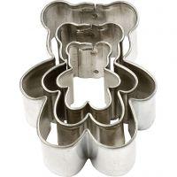 Uitstekers, beer, afm 35x40 mm, 3 stuk/ 1 doos
