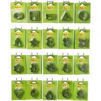 Uitstekers Sets, afm 40x45 mm, 20x5 doos/ 1 doos