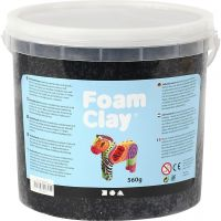 Foam Clay®, zwart, 560 gr/ 1 emmer
