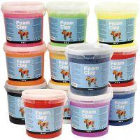 Foam Clay®, Inhoud kan variëren , diverse kleuren, 12x560 gr/ 1 doos