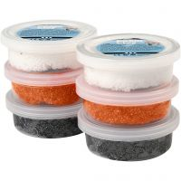 Foam Clay®, zwart, oranje, wit, 6x14 gr/ 1 doos