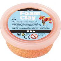 Foam Clay®, glitter, oranje, 35 gr/ 1 Doosje
