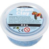 Foam Clay®, metallic, blauw, 35 gr/ 1 Doosje