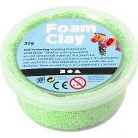 Foam Clay®, neon groen, 35 gr/ 1 Doosje