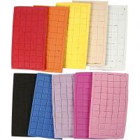 EVA Foam vormen, afm 8x8 mm, diverse kleuren, 80 vel/ 1 doos