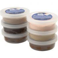 Silk Clay®, skin colours, 6x14 gr/ 1 doos