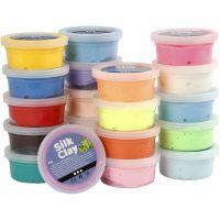 Silk Clay®, diverse kleuren, 20x40 gr/ 1 doos