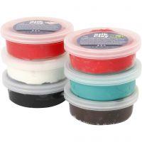 Silk Clay®, Kerst verf, 6x14 gr/ 1 doos