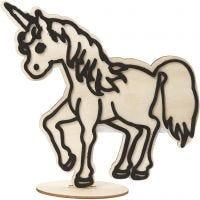 Figuur om te decoreren, unicorn, H: 19 cm, 1 stuk