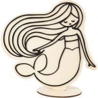 Figuur om te decoreren, zeemeermin, H: 18 cm, 1 stuk