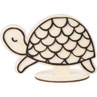 Figuur om te decoreren, schildpad, H: 10 cm, 1 stuk
