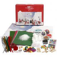 Materialenset voor een kerstlandschap, 1 set