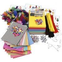 Grote creatieve verpakking van materialen en sjablonen, diverse kleuren, 1 set
