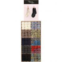 Sokkengaren, diverse kleuren, 120 bol/ 1 doos