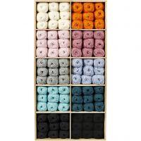 Baby garen, diverse kleuren, 120 bol/ 1 doos