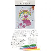 Mini Creatieve Set, prinses, wit, 1 set