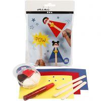 Mini Creatieve Set, ijsstokjes figuur, 1 set