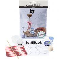Creative mini kit, Eierdoos piratenschip, 1 set