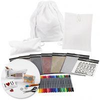Kits – Terug naar school textiel versieren, 1 set