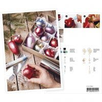 Inspiratiekaart, Kerstballen met art metal verf en deco folie, A5, 14,8x21 cm, 1 stuk