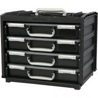 Handybox met meerdere opslag boxen, H: 31 cm, L: 37.6 cm, B: 26,5 cm, 1 set