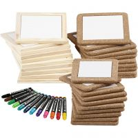 Materialenset Onderzetters beschilderen, standaardkleuren, extra kleuren, 1 set, 30 stuk
