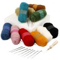 Naaldvilten - Starterset, diverse kleuren, 1 set