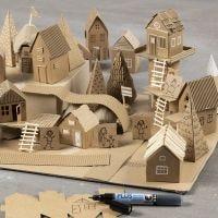 Bouw je eigen stad van gerecyclede materialen en karton