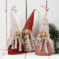 Kerstkabouters gemaakt van Design vilt