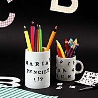 Mok met letters van Color Dekor