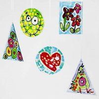 Raamdecoraties met stickerverf