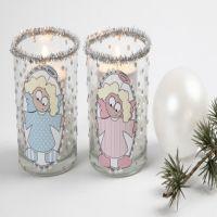 Waxinelichten met engelen