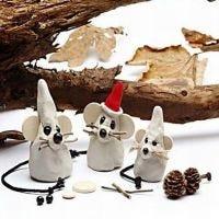 Muizen in kerstsferen