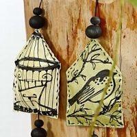 Vogelkooien op canvas