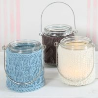 Lanterns with Knitted Covers