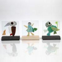 Glasplaten met mozaiek