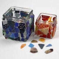 Kandelaars met mozaiek